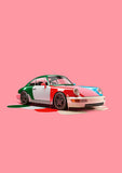 Chris Labrooy Dripping Porsche Pink Framed