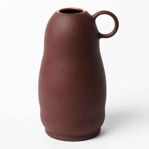 Burgandy Abstract Vase