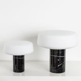 Terence Woodgate Solid Table Light, Small - Nero Marquina Marble