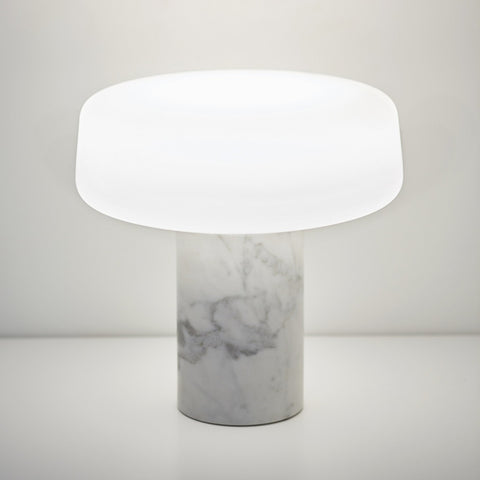 Terence Woodgate Solid Table Light - Carrara Marble