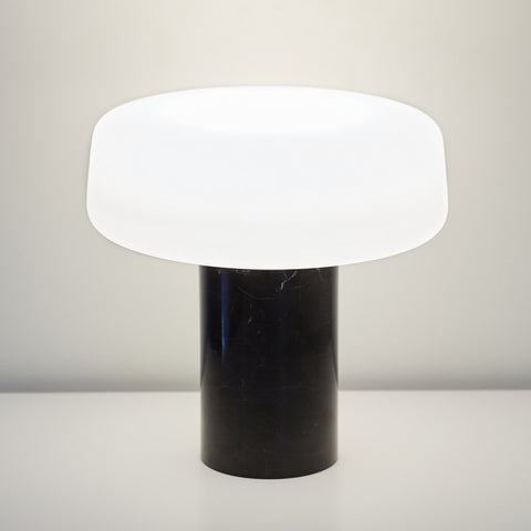 Terence Woodgate Solid Table Light - Nero Marquina Marble