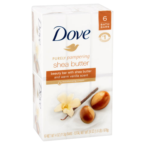 Dove Purely Pampering Shea Butter Beauty Bar 4 oz, 6 Bars - iMarket.Site