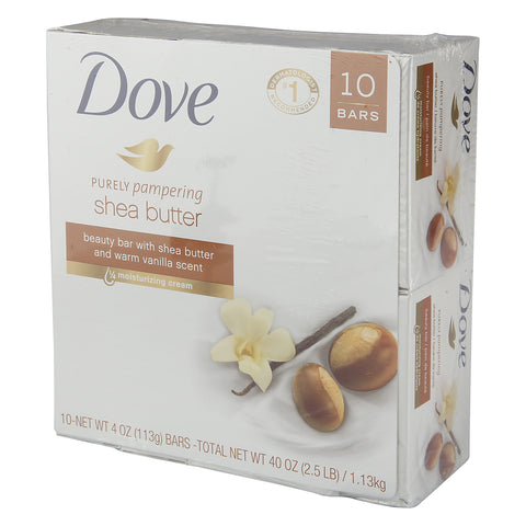 Dove Purely Pampering Shea Butter Beauty Bar 4 oz, 10 bars - iMarket.Site