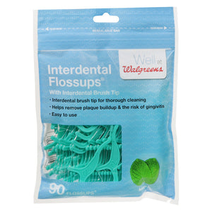 Interdental Flossups Mint 90.0 ea - iMarket.Site