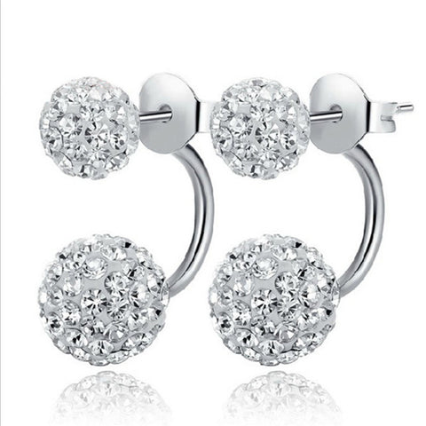 New Arrival Silver Plated Fashion Shiny Shambhala Earrings Jewelry for Women Promotion wholesale - iMarket.Site