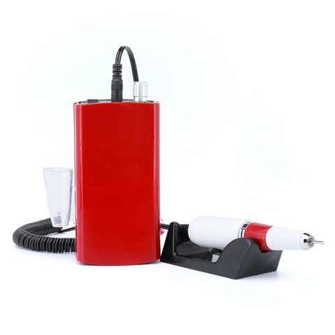 Rechargeable 30000RPM Red Electric Nail Drill Machine - iMarket.Site