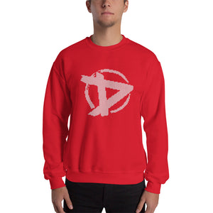 D Logo Christmas Sweater Punainen