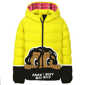 FAKE BOY Hooded Puffer Jacket
