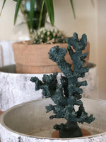 Faux  resin stone Tree Coral in Atlantic Green