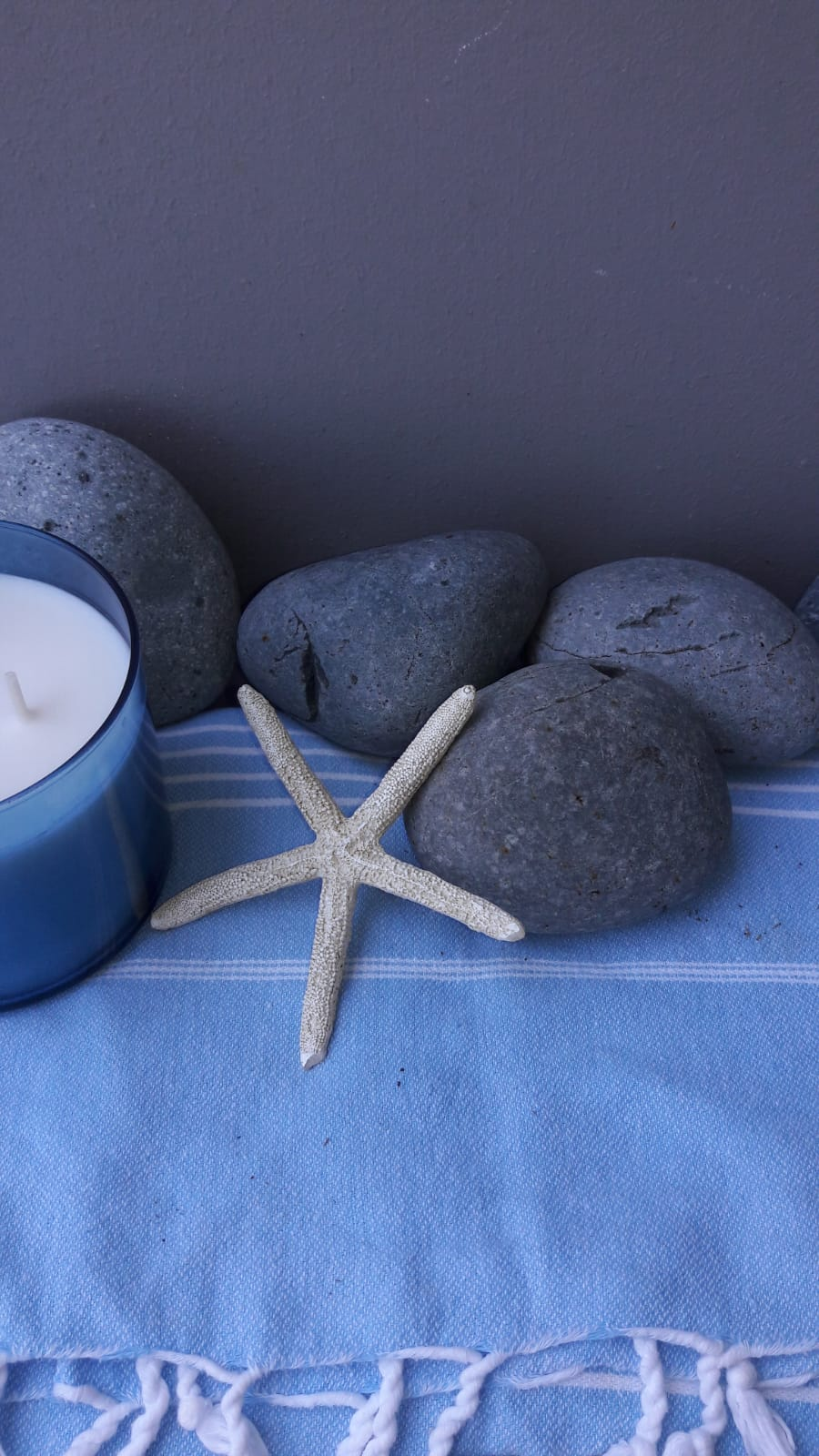 Resin stone star fish trio