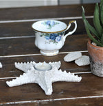 Faux resin stone Star Fish tealight holder