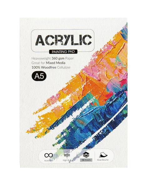 A5 Acrylic Painting Pad - 360 Gsm (ACR2) (Pack of 2)