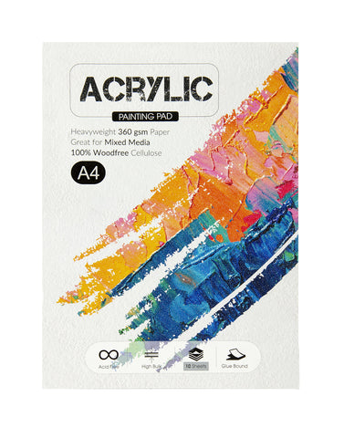 A4 Acrylic Painting Pad - 360 Gsm (ACR4)