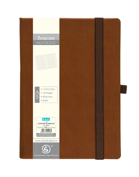 A5 BESPOKE NOTEBOOK - TAN (BSK2-B)
