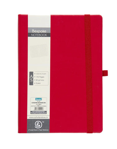 A5 BESPOKE NOTEBOOK - RED