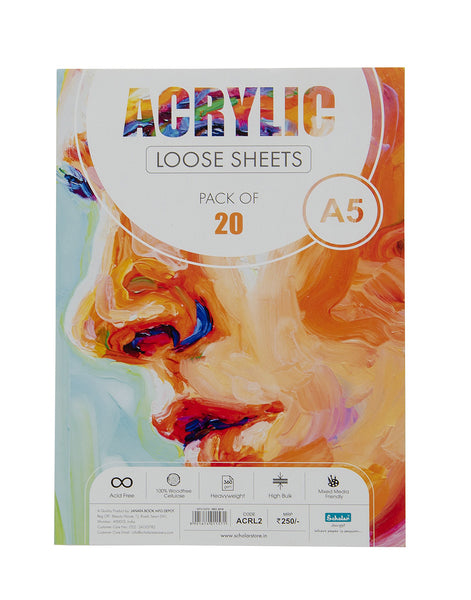 A5 Acrylic Loose Sheets - 360 Gsm (ACRL2)