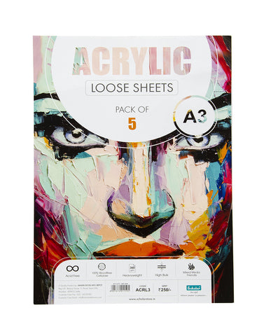A3 Acrylic Loose Sheets - 360 Gsm (ACRL3) (Set of 2)