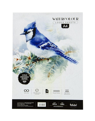 A4 Watercolour Cold Pressed Loose Sheets - 300 Gsm (WCL4) (Set of 2)