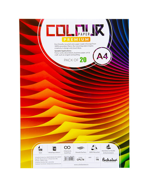 A4 COLOR PAPER LOOSE SHEETS - 120 GSM (CPLT4) (Set of 2)