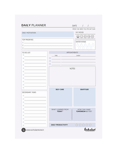 A5 DAILY PLANNER (DPL2) (Set of 5)