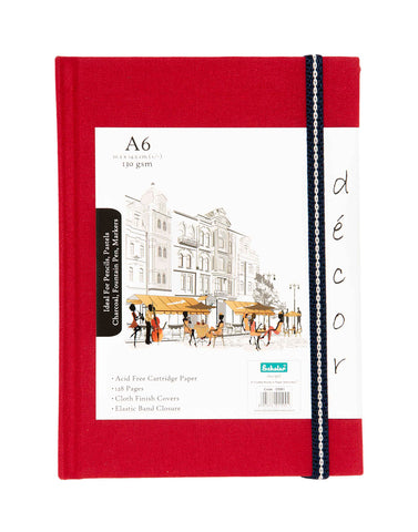 A6 Décor Sketch Book - Red