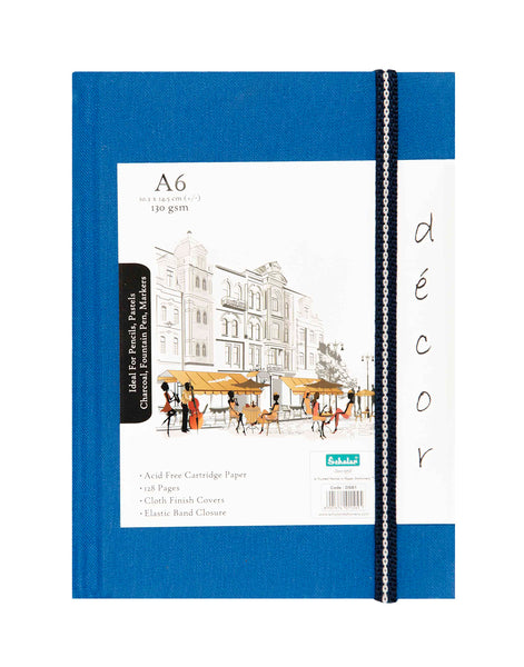 A6 Décor Sketch Book - Blue