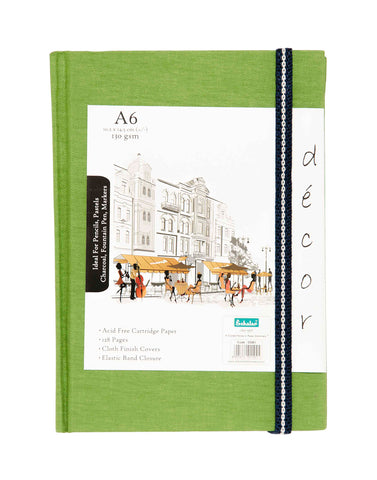 A6 Décor Sketch Book - Green
