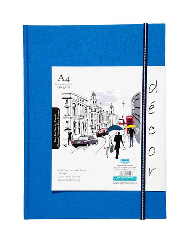 A4 Décor Sketch Book - Blue  (DSB4-B)
