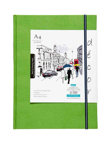 A4 Décor Sketch Book - Green  (DSB4-C)