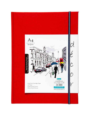 A4 Décor Sketch Book - Red  (DSB4-A)
