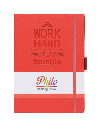 A5 PHILO NOTEBOOK - RED