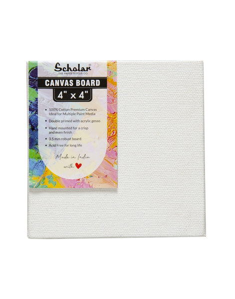4''x4'' Canvas Board (Set of 10) (CV44)