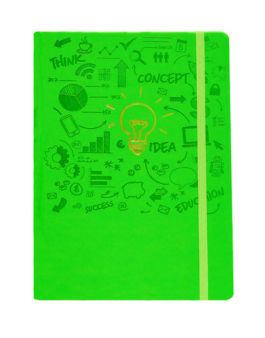A5 FLICKER NOTEBOOK - GREEN (FLK2-A)