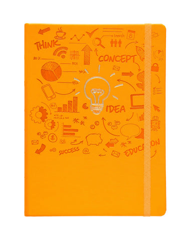 A5 FLICKER NOTEBOOK - ORANGE