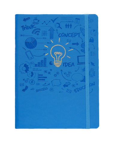 A5 FLICKER NOTEBOOK - BLUE