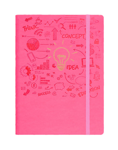 A5 FLICKER NOTEBOOK - MAGENTA