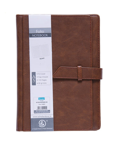 A5 FOLIO Notebook - Tan