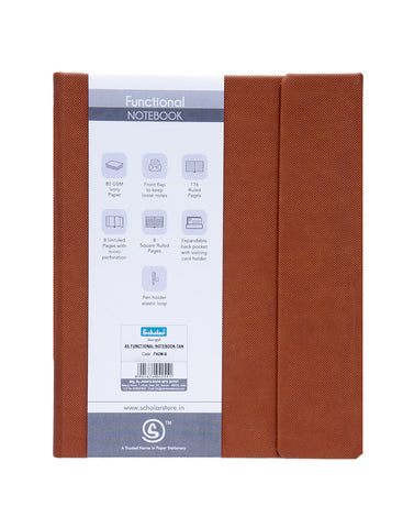 A5 Functional Notebook (Magnet) - Tan