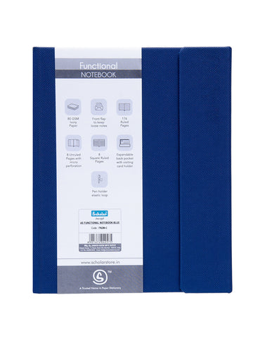 A5 Functional Notebook (Magnet) - Blue