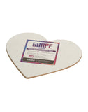 "Heart Shape Canvas Board - 5"" (Set of 4) (HRT5)"