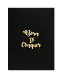 A5 BLING - BORN TO CONQUER NOTEBOOK (Set of 2) (KBL2-C)