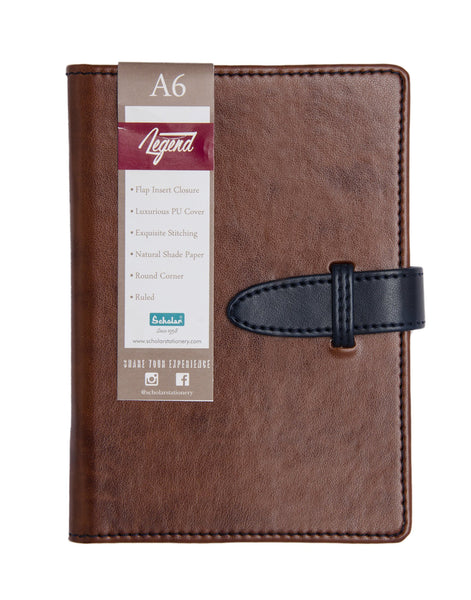 A6 LEGEND NOTEBOOK - DEEP TAN (LEG1-B)
