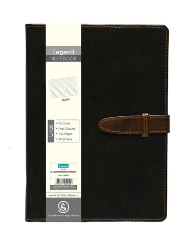B5 Legend Notebook - Charcoal (LEG3-C)