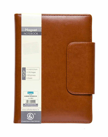 A5 MAGNET NOTEBOOK -TAN (MBN2-B)