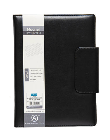 B5 MAGNET NOTEBOOK - BLACK (MBN3-A)