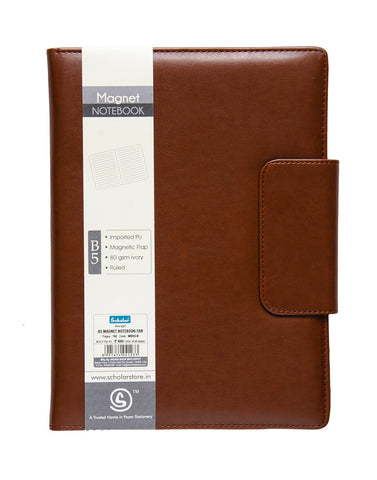 B5 MAGNET NOTEBOOK - TAN (MBN3-B)