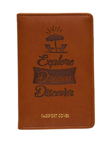 PASSPORT COVER - TAN (PC-B)