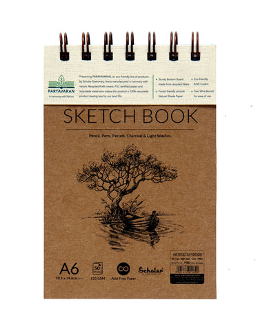 A6 PARYAVARAN SKETCH BOOK (PSB1) (PACK OF 4)
