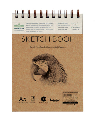 A5 PARYAVARAN SKETCH BOOK (PSB2) (PACK OF 2)