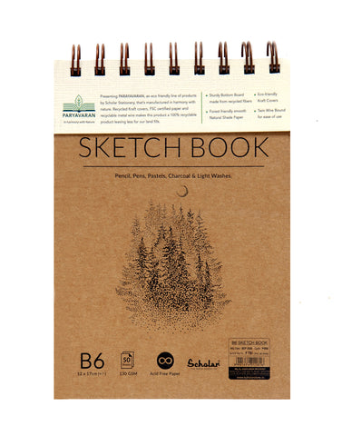 B6 PARYAVARAN SKETCH BOOK (PSB5) (PACK OF 4)